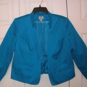 Worthington Blue Bolero Jacket, Petite XL